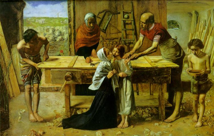 Christ in the House of His Parents, 1849 - John Everett Millais