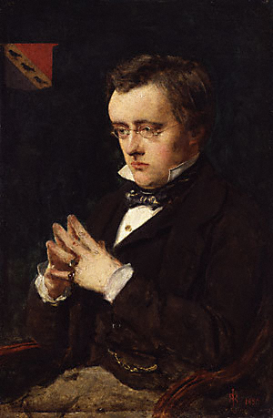 Portrait of Wilkie Collins, 1850