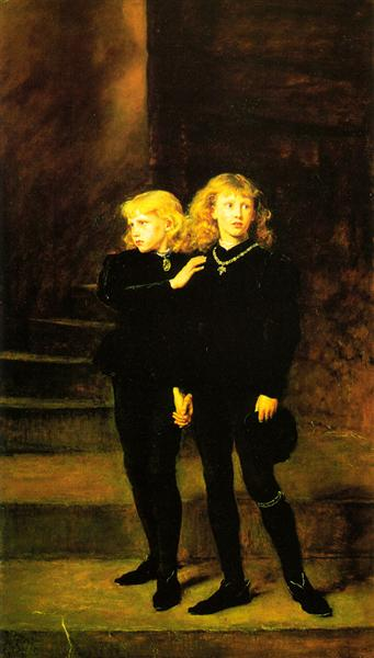 Princes In The Tower - Millais John Everett