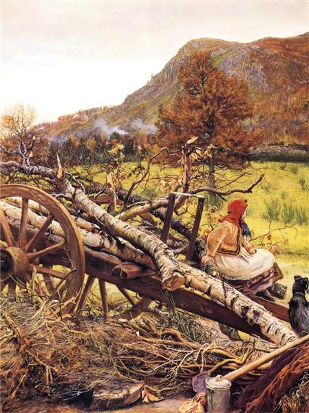 Winter Fuel, 1873 - John Everett Millais