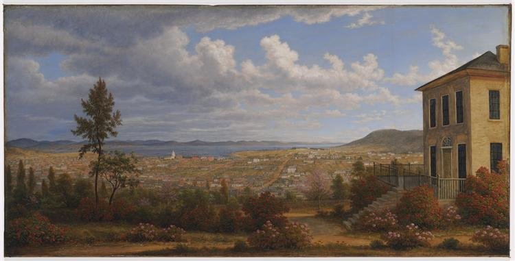 Hobart Town, taken from the garden where I lived, 1832 - John Glover