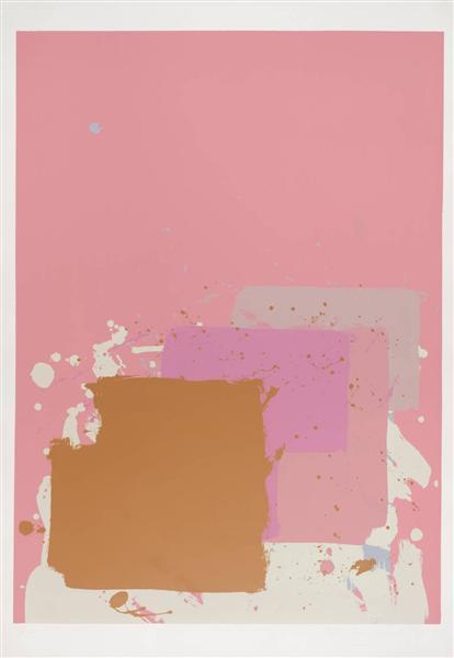 Brown Black on Pink, 1971 - John Hoyland