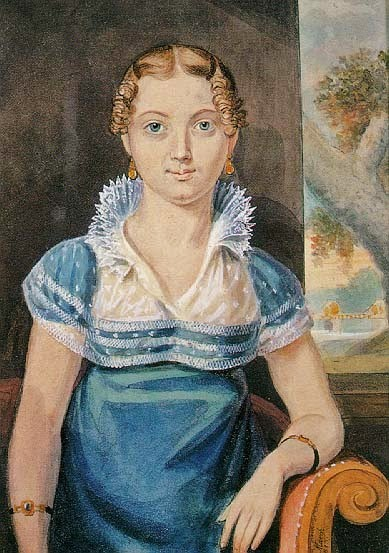 Young Girl With A Blue Dress - John Lewis Krimmel