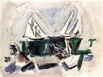Schooner Yachts, Deer Isle, Maine - John Marin