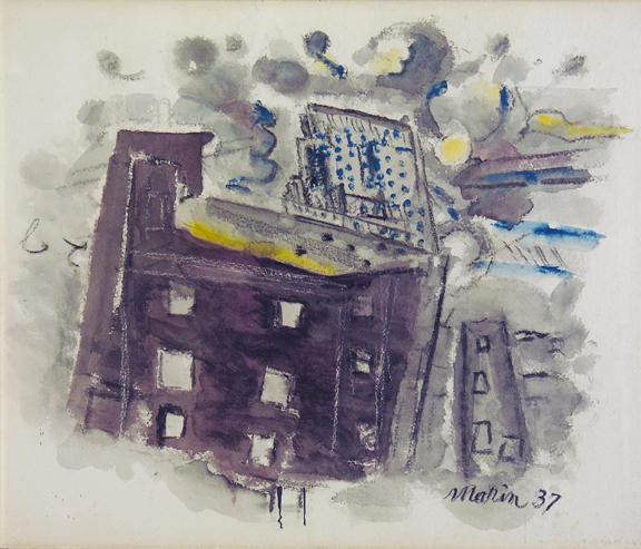 Top of Radio City, New York City - John Marin