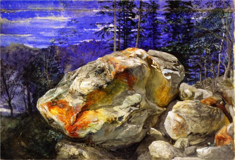 Fragment of the Alps, 1855 - John Ruskin