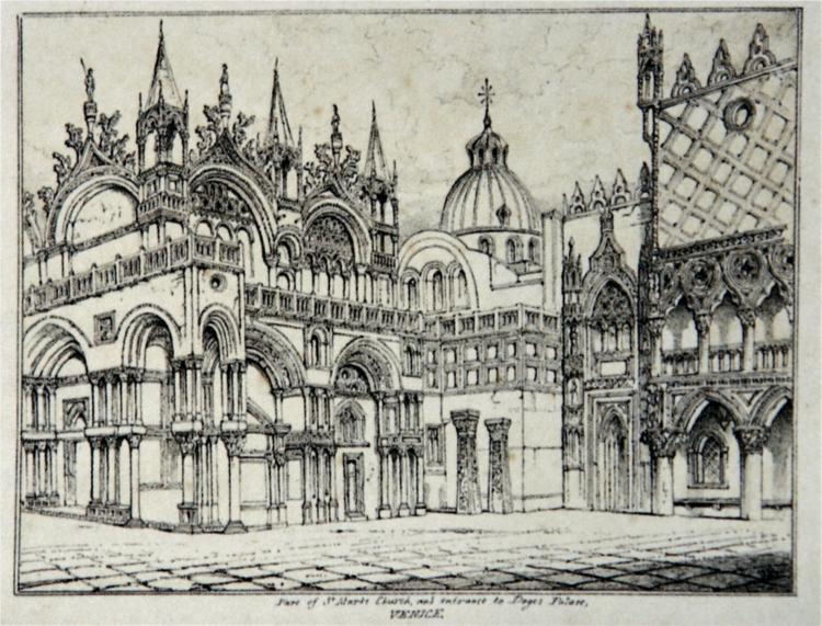 Piazzetta and St Marks Venice 1835 - John Ruskin