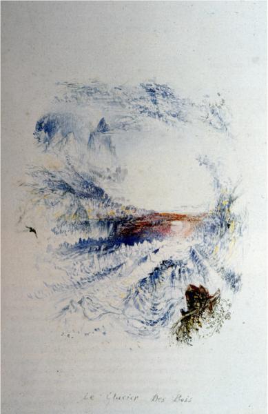 The Glacier des Bois, 1844 - John Ruskin