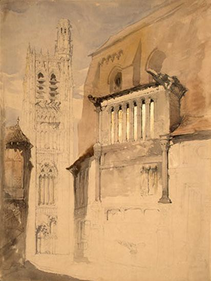 Tower of the Cathedral at Sens, 1845 - John Ruskin