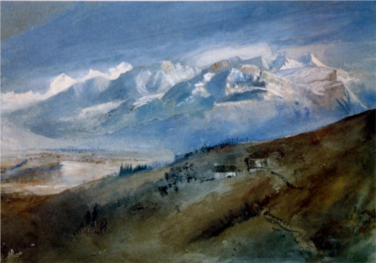 View from my Window at Mornex, 1863 - John Ruskin
