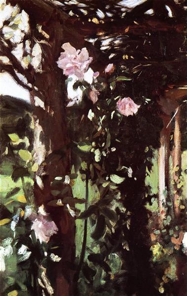 A Rose Trellis (Roses at Oxfordshire), c.1886 - John Singer Sargent