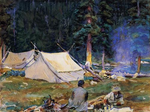 Camping at Lake O-Hara - John Singer Sargent