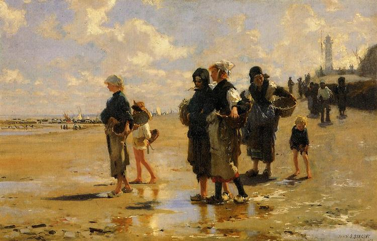 Fishing for Oysters at Cancale, 1878 - John Singer Sargent