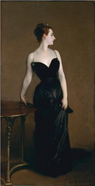 Madame X (also known as Madame Pierre Gautreau), 1884 - John Singer Sargent