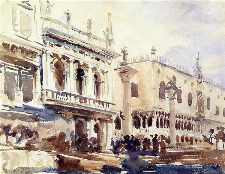 The Piazzetta and the Doge's Palace, c.1907 - Джон Сінгер Сарджент