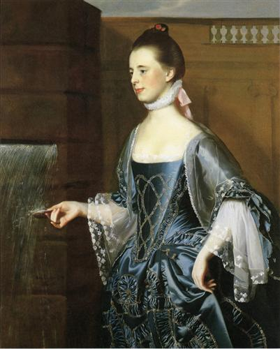 Mrs. Daniel Sargent (Mary Turner Sargent) - John Singleton Copley