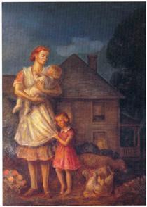 Kansas Pastoral: Planter's Family - Джон Стюарт Керрі