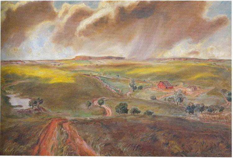 Άνοιξη ντους, 1931 - John Steuart Curry