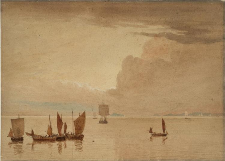 Sea-piece with Fishing Boats in a Calm None - Джон Варли