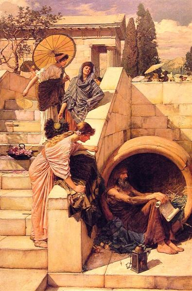 Диоген, 1882 - Джон Уильям Уотерхаус