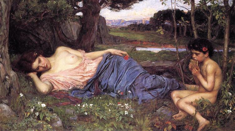 Listen to my Sweet Pipings, 1911 - John William Waterhouse