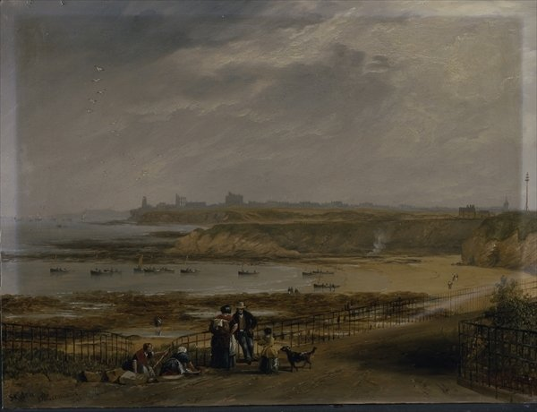 Cullercoats looking towards Tynemouth - Ebb tide, 1845