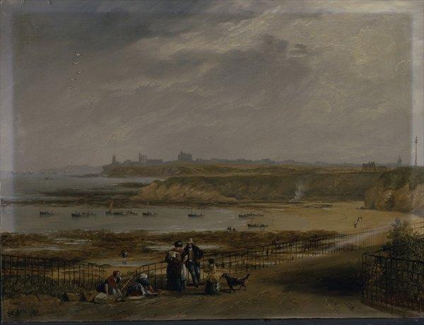 Cullercoats looking towards Tynemouth - Ebb tide, 1845 - John Wilson Carmichael