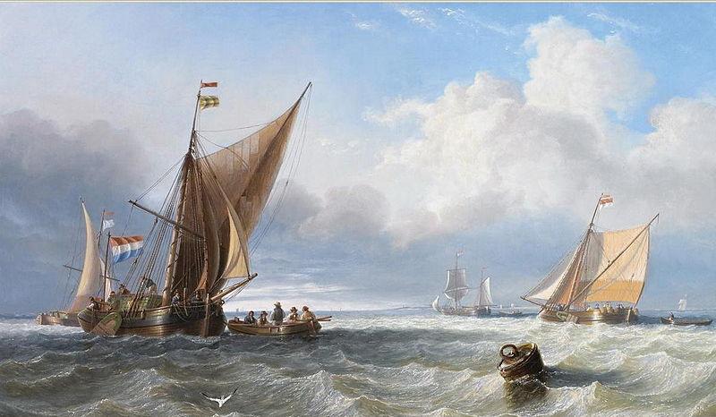 Off the Dutch Coast, 1858
