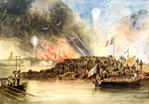 The bombardment of Sveaborg, in the Baltic, 9 August 1855, 1855 - John Wilson Carmichael