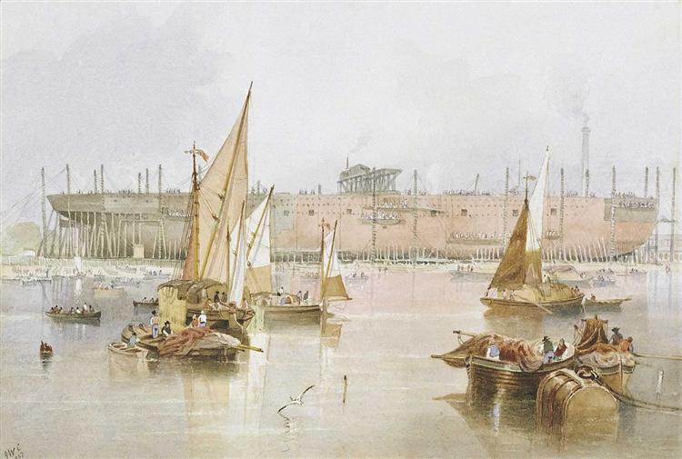 The building of the SS 'Great Eastern', 1857 - John Wilson Carmichael