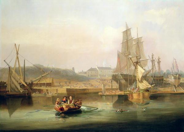 The Shipyard at Hessle Cliff, 1820 - John Wilson Carmichael