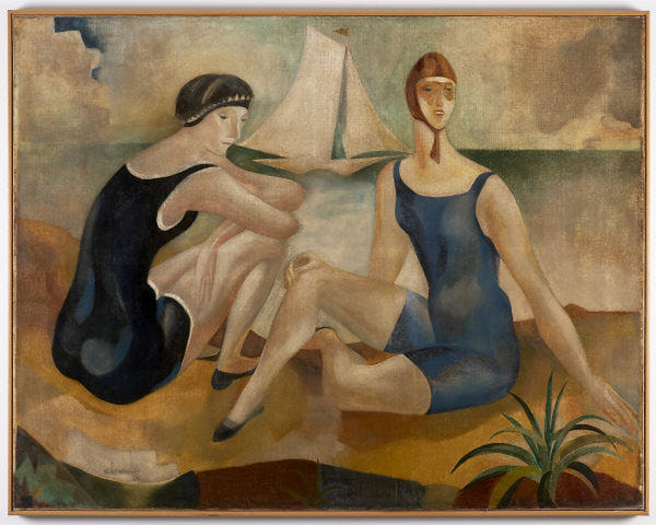 The bathers, 1925