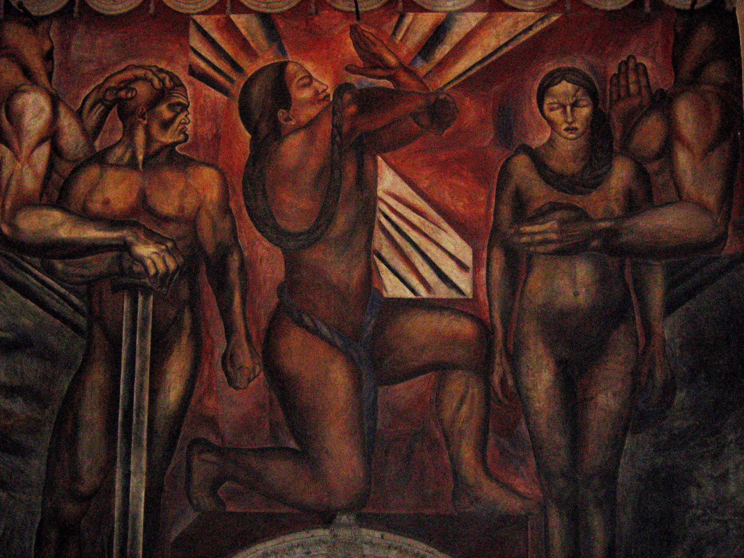 Omnisciencia 1925 jose clemente orozco for David alfaro siqueiros mural tropical america