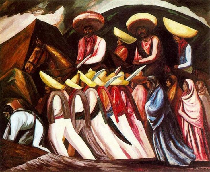 Zapatista's Marching, 1931 - Jose Clemente Orozco