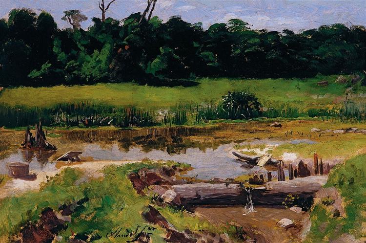 Fluvial Landscape, 1899 - José Ferraz de Almeida Júnior