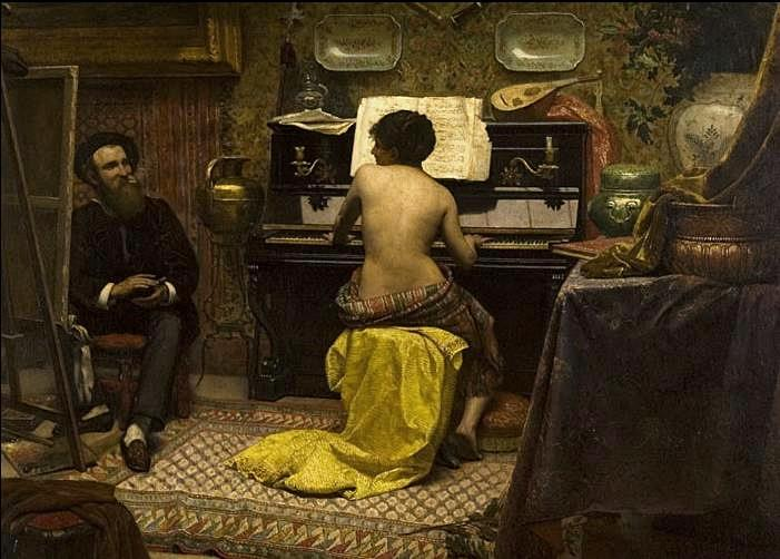 Model's rest, 1882 - Jose Ferraz de Almeida Junior