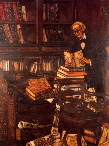 The Bibliophile, 1933 - Jose Gutierrez Solana
