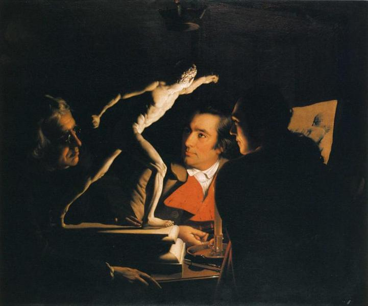 Three Persons Viewing the Gladiator by Candlelight, 1765 - Joseph Wright