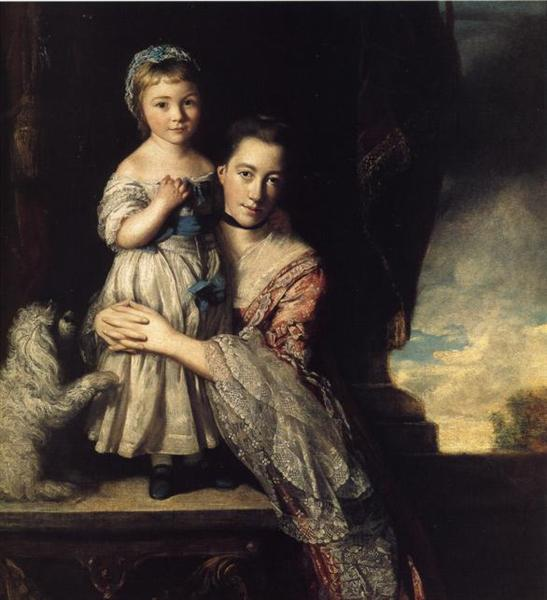 Georgiana, Countess Spencer, and Her Daughter, 1759 - 1761 - Joshua Reynolds