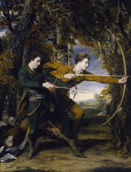 Colonel Acland and Lord Sydney: The Archers, 1769 - Джошуа Рейнольдс