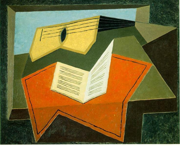 Guitar and Music Paper, 1926 - 1927 - Juan Gris