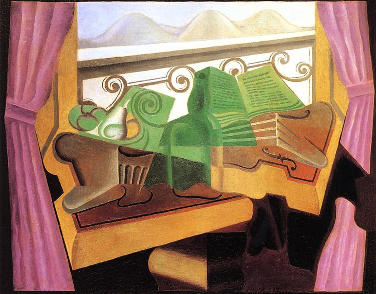 Open Window with Hills, 1923 - Хуан Грис
