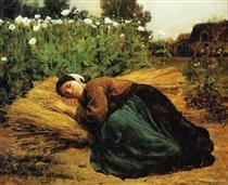 A Rest in the Fields - Jules Breton