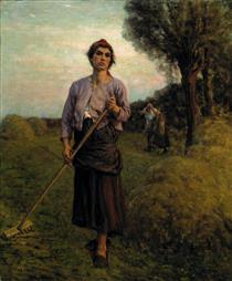 The Gleaner - Jules Breton