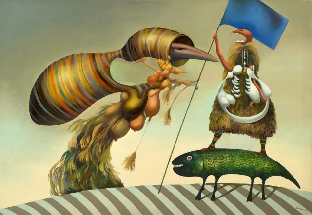 Drapeau rigide aux couleurs inconnues - Jules Perahim