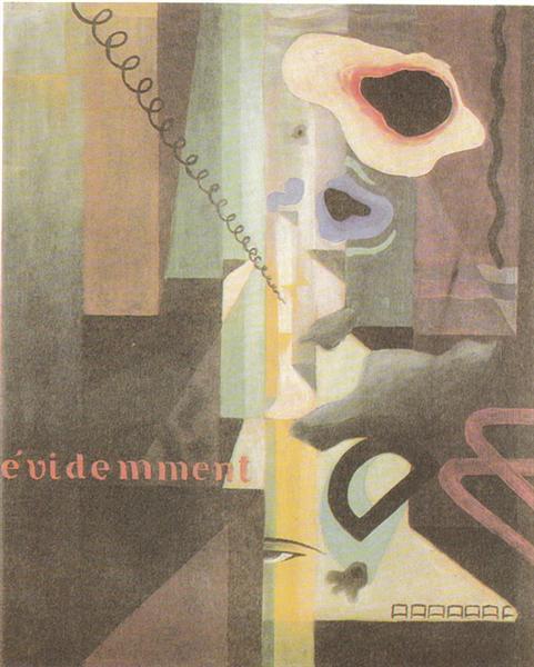 Composizione (Paesaggio) Dada n. 3 (o n. 2), 1921 - 尤利烏斯·埃佛拉
