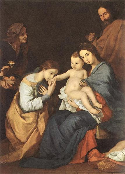 The Holy Family with St. Catherine, 1648 - Jusepe de Ribera