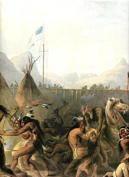 Fort Pierre, 1832 - Karl Bodmer