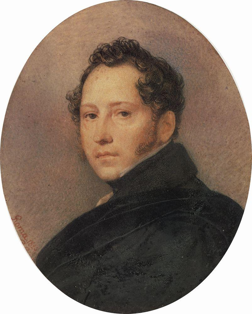 Portrait of the Artist Sylvester Shchedrin, 1824