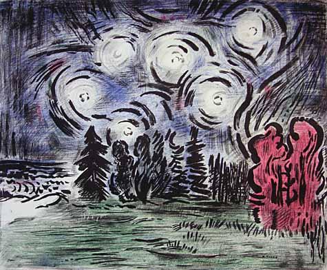 Autumn Wind and Stars, 1988 - Karl Schrag
